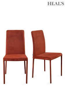 Bronte Pair Of Velvet Dining Chairs By HEAL'S