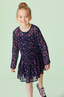 Floral Pleated Dress (3-16yrs)