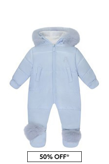 Baby Boys Blue Padded Snowsuit