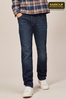 Barbour® International Dark Wash Straight Fit Jean