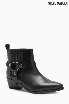 Steve Madden Black Powerful Western Boot