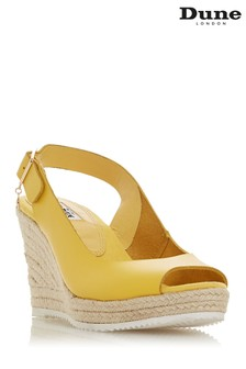 Dune London Yellow Leather Sandal
