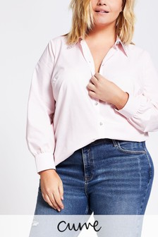 River Island Pink Light Embellished Collar Shirt
