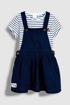 Stripe Pinafore Dress And T-Shirt Set (3mths-6yrs)