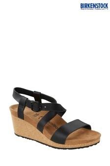 Birkenstock Black Sibil Wedge Sandals