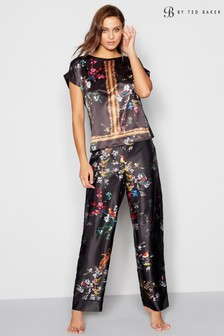 B by Ted Baker Black Opulent Fauna Print Pant