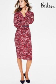 Boden Red Hannah Dress
