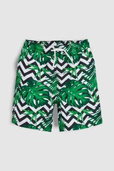 Palm Print Shorts (3-16yrs)