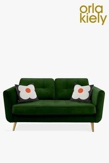 Orla Kiely Ivy Small Sofa with Oak Feet