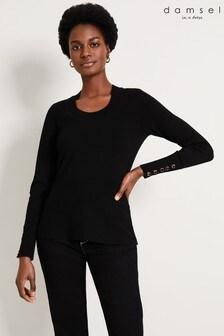 Damsel In A Dress Black Pamel Knit Top