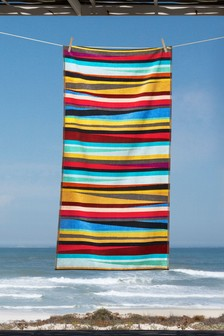 Multi Striped Beach Towel