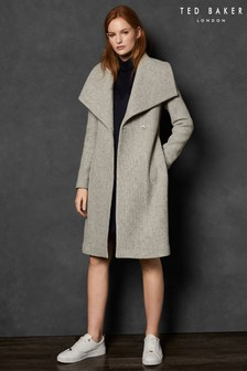 Ted Baker Grey Eyelet Belt Coat