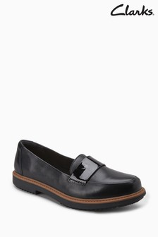 Clarks Black Leather Raisie Arlie Loafer