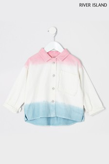 River Island White Ombre Shacket