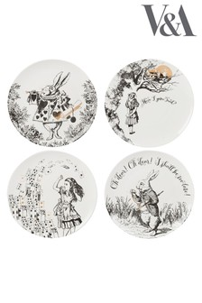 Set of 4 V&A Alice in Wonderland Side Plates