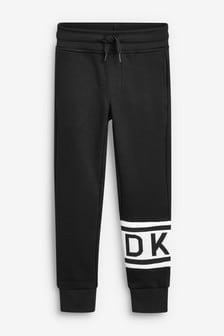 بنطلون رياضي أسود بشعار من DKNY