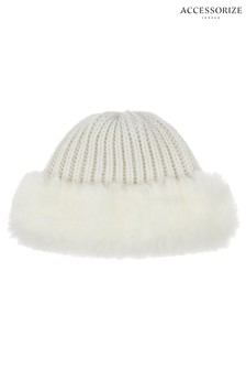 Accessorize Ivory Beanie Hat