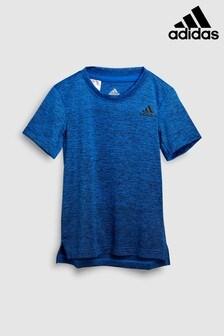 Темно-синяя футболка с эффектом омбре adidas