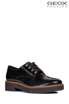 Geox Adrya Black Lace-Up Shoe