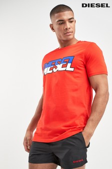 Diesel® Red Logo Swim T-Shirt
