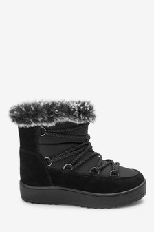 Lace-Up Pull-On Boots (Older)