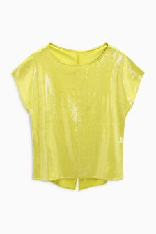 Sequin Boxy Top