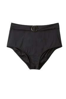 High Waist Belted Bikini Briefs