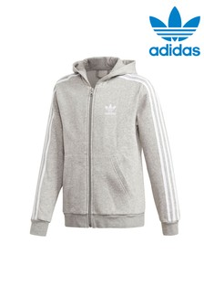 adidas Originals Grey Full Zip Hoody