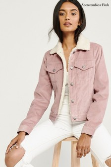 Abercrombie & Fitch Pink Cord Jacket