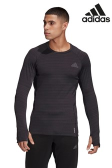 adidas Black Runner Long Sleeve T-Shirt