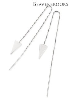 Beaverbrooks Silver Triangle Drop Earrings