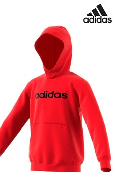adidas Red Linear Hoody
