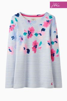 Joules Lily Pond Stripe Harbour Print Top
