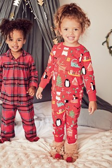 Christmas Print Snuggle Pyjamas (9mths-12yrs)