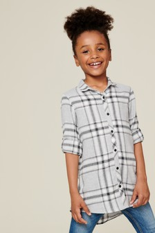 Check Longline Shirt (3-16yrs)