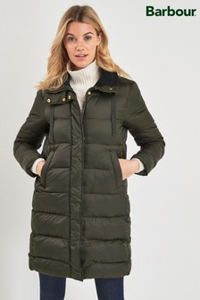 Barbour® Heritage Sage Green Quilted Weatherham Coat