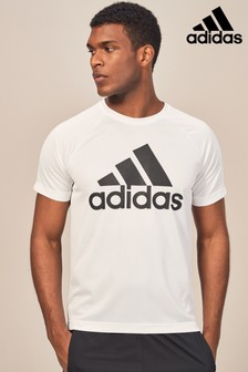 T-shirt adidas Gym D2M blanc avec logo
