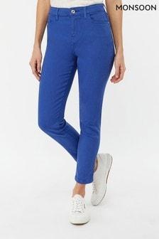 Monsoon Ladies Blue Safaia Ankle Crop Jean