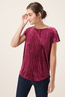 Velvet Short Sleeve Top