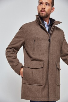 Six Pocket Funnel Coat