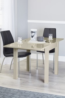 Mode Gloss Square To Rectangle Dining Table