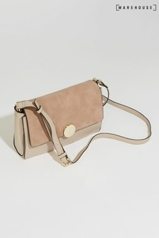 Warehouse Disc Clasp Cross Body Bag