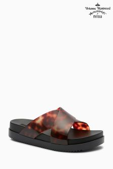 Melissa® Black Tortoise Shell Cosmic Cross Slide