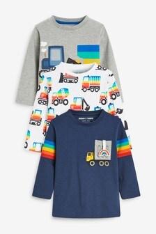 3 Pack Digger T-Shirts (3mths-7yrs)