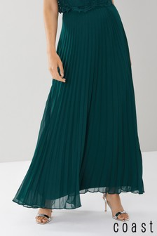 Coast Green Imi Pleated Maxi Skirt