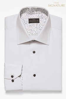 Signature Slim Fit Single Cuff Contrast Trim Shirt