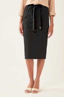 Ponte Belted Skirt