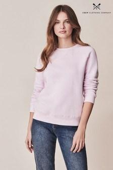 Crew Clothing Company Pink Brushed Back Crew Sweatshirt