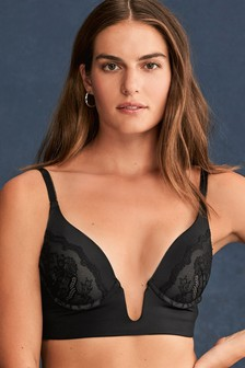 Push Up U-Plunge Lace Bra