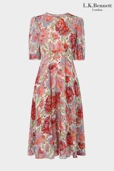שמלה ורודה דגם Garland של L.K.Bennett